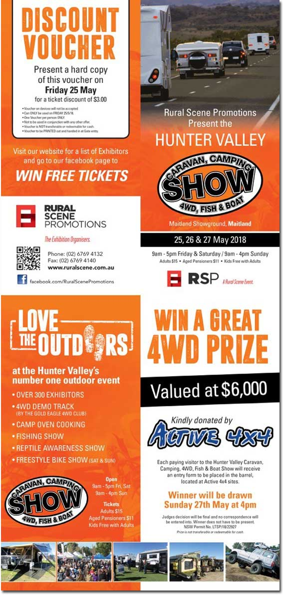 Hunter Valley Caravan Camping 4WD & Fish Show